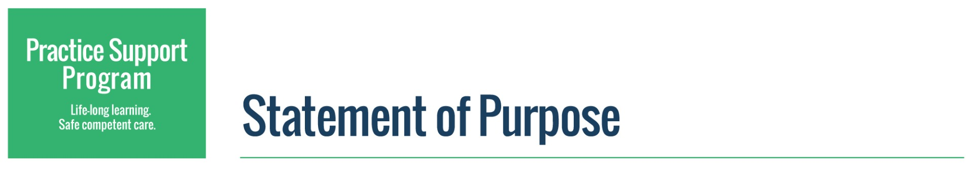 Practice Support Program Statement of Purpose